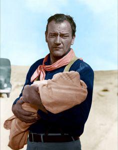 John Wayne   fotografia john wayne en un retrato promocional del western the three ...