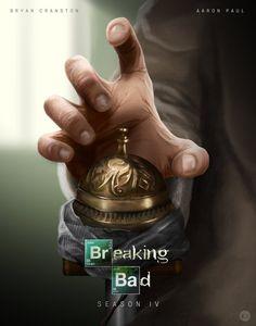 Breaking Bad Season 4 Poster by Tom Velez Breaking Bad Season 1, Breaking Bad Tv Series, Best Tv Series Ever, Best Tv Shows, Favorite Tv Shows, Walter White, Illustrator, Bad Art, Heisenberg