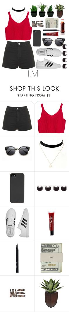 """""""MonstaX"""" by vieen ❤ liked on Polyvore featuring Topshop, HEX, Maison Margiela, adidas, philosophy, Bobbi Brown Cosmetics and Jack Spade"""