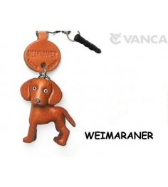 Weimaraner Leather Dog Earphone Jack Accessory