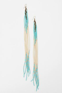 Dripping Seed Bead Duster Earring #UrbanOutfitters I want these Hanna wore these on Pretty Little Liars Season 3 Episode 2