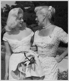 Diana Dors and Ginger Rogers