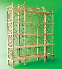 Chinoiserie Chic: Chinoiserie Shelving   I would have terrible time putting ANYTHING on this piece.  I couldn't bring myself to cover it up