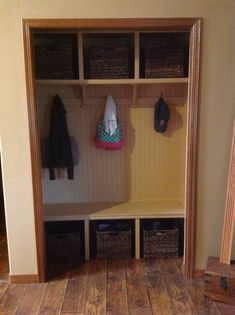 Mudrooms made from a closet