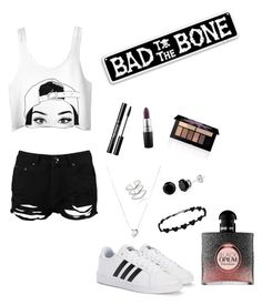 """Bad Girl"" by naomi-rose3 on Polyvore featuring Boohoo, adidas, Links of London, Astrid & Miyu, Smashbox, MAC Cosmetics and Yves Saint Laurent"
