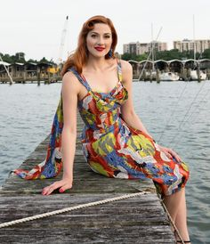Trashy Diva Lena Sarong  Dress -  Cranes