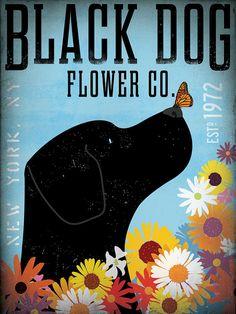 Labrador retriever flower company original graphic by geministudio
