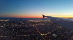 Flying in to Laguardia at sunset