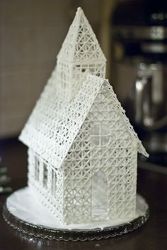 House (or church) from icing