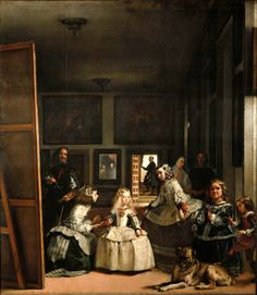Diego Velázquez (Spanish 1559–1660) [Baroque, Portrait] Las Meninas (The Maids of Honour), 1656. Museo del Prado, Madrid.