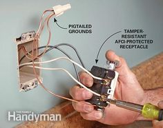 how to replace an electrical outlet for dummies | DIY - Household ...