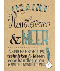 Creatief Handletteren & Meer Hand Lettering Alphabet, Bullet Journal Inspiration, Gel Pens, Doodles, Calligraphy, Scrapbook, Books, Cards, Bujo