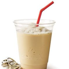 Protein Frappe   Ingredients:  1 Cup Chilled Coffee  1/2 Cup Almond Milk  1 Tsp Vanilla  1 Tsp Stevia  Handful of Ice Cubes  1 Scoop Protein Powder  Dash of Cinnamon
