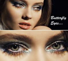 butterfly eyes, colored mascara for summer 2013, via chanel