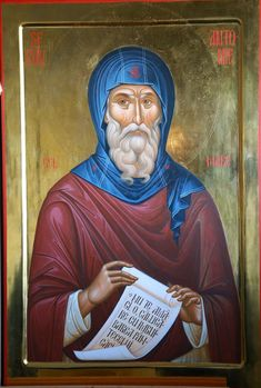 Anthony The Great, Saints, Cyprus, Religion, Painting, Fictional Characters, Painting Art, Paintings, Fantasy Characters
