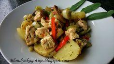 Blondynka Gotuje: Kurczak z warzywami po staropolsku