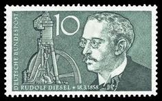 Rudolf Diesel died in mysterious circumstances before he was able to capitalise on his ingenious invention. German Stamps, English Channel, Bus Coach, Centenario, He Is Able, Diesel Engine, Change The World, Inventions, Cabins