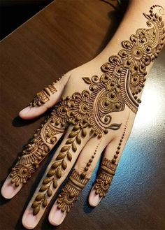 Browse the latest Mehndi Designs Ideas and images for brides online on HappyShappy! We have huge collection of Mehandi Designs for hands and legs, find and save your favorite Mehendi Design images. Henna Hand Designs, Dulhan Mehndi Designs, Latest Simple Mehndi Designs, Mehndi Designs Finger, Mehndi Designs For Girls, Mehndi Designs 2018, Mehndi Designs For Beginners, Modern Mehndi Designs, Mehndi Designs For Fingers