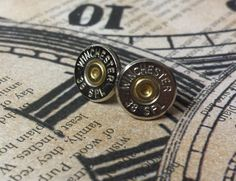 Winchester bullet earrings. Available at AdornmentsByValerie.etsy.com.   Check out this item in my Etsy shop https://www.etsy.com/listing/257449459/bullet-earringsjewelrywinchester38