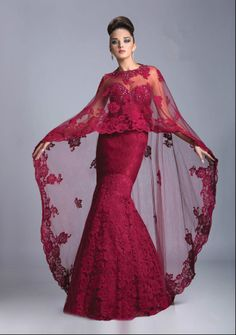 Cheap mother of bride dress, Buy Quality mother of bride directly from China mother of the bride Suppliers: Vestidos Long Mother of the Bride Dresses Formal Dresses With Shawl Cape Floor Length Long Dress Elegant Formal Evening Gown Designer Evening Dresses, Evening Gowns, Evening Party, Cape Dress, Gown Dress, Formal Gowns, Dress Formal, Beautiful Gowns, Ball Gowns