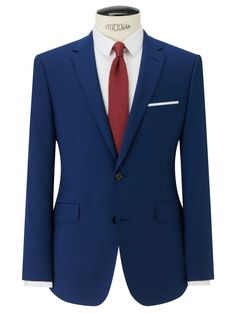 Kin by John Lewis Slim Fit Stamford Tonic Suit Jacket, Ultramarine