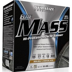 Dymatize Elite Mass is a powerful Hi-Protein Anabolic Gainer designed specifically to obtain the massive size, while aiding in recovery from intense workouts. Branch Chain Amino Acids, Mass Gainer, Bodybuilding Supplements, Banana Cream, Intense Workout, Healthier You, Muscle Mass, Protein