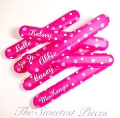 These are just great as favors for FE gifts, a birthday sleep over, slumber party.  Also great to buy for vacations, nights over at grandmothers house, etc.  These are all personalized with names and if you choose, I have several different colors on hand that you can choose from to write the name and dots.  Looking for something special for a trip to Disney or a Disney Cruise? Please see my separate listing for Mickey and Minnie toothbrush cases.  Please feel free to contact me if you have…