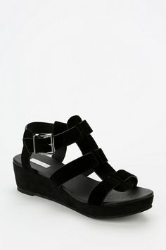 Cooperative Caged T-Strap Platform Sandal #urbanoutfitters