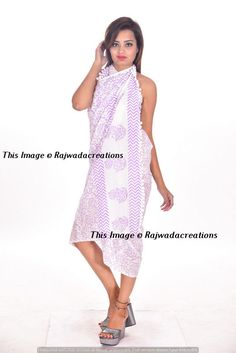 957832aa16ea6 Women Sexy Cotton Wrap Dress Sarong Pareo Beach Bikini Swimwear Cover Up  Scarf  Rajwadacreations