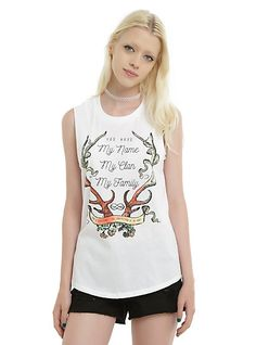 Outlander The Wedding Girls Muscle TopOutlander The Wedding Girls Muscle Top, WHITE