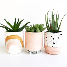 Plants are friends Ink Spot Pots Ceramic Succulent Planters Diy Planters, Ceramic Planters, Ceramic Flower Pots, Cactus Ceramic, Fall Planters, Flower Planters, Hanging Planters, Hanging Baskets, Pots D'argile