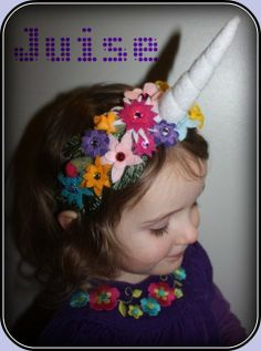 Unicorn Horn Flower Crown