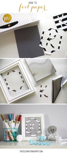 How To Foil Paper | @kimbyers #foil #trend #papercraft #HSMinc