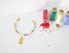 Cat Gold Plated Swarovski Crystal Bracelet Seed by ChooseLikeBuy
