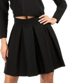 Look what I found on #zulily! Black Pleated Skirt by MOE #zulilyfinds