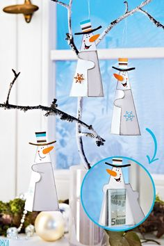 Welcome Crafts Home Christmas Makes, Christmas Crafts For Kids, Christmas Time, Christmas Gifts, Diy And Crafts, Paper Crafts, Gifts For Kids, Snowman, Gift Wrapping