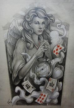 Tattoo design - Guardian Angel commission by Xenija88.deviantart.com on @deviantART