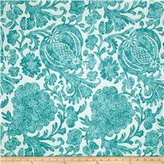 P Kaufmann Indoor/Outdoor Batik Turquoise 10.98
