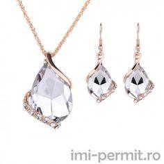 Set bijuterii - lant cu pandantiv + cercei