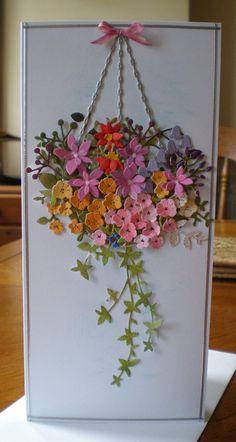 Pretty Cards, Cute Cards, Diy Cards, Handmade Birthday Cards, Greeting Cards Handmade, Flower Cards, Paper Flowers, Creative Cards, Scrapbook Cards