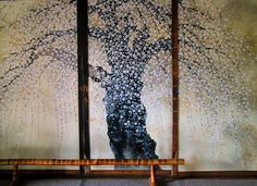 Painted screen at Mine-Ji Temple | Unnan, Okuimo District, Japan