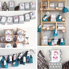 DIY Adventskalender - Adventskalender ganz einfach selbst gestalten mit wunderschönen Motiven von Gretas Schwester