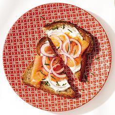 Smoked Salmon Toast http://www.womenshealthmag.com/weight-loss/healthy-breakfast-ideas/slide/2