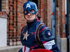 Captain America, Motorcycle Jacket, Cosplay, Superhero, Fictional Characters, Fashion, Moda, Fashion Styles, Fantasy Characters