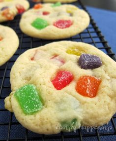 Bake up some love and make these Father's Day Gum Drop Cookies! These delicious cookies are sweet, sticky, and full of love! Buttery Cookies, Soft Sugar Cookies, Drop Cookies, Yummy Cookies, Fancy Cookies, Sweet Cookies, Holiday Desserts, Holiday Baking, Christmas Baking