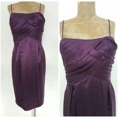 Eliza J Dress Size Medium Tiered Ruffle Purple Mini Cocktail Party Bridesmaid #ElizaJ #Sheath #Formal