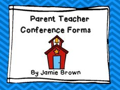 Simple and detailed parent teacher conference forms. Everyone needs these!