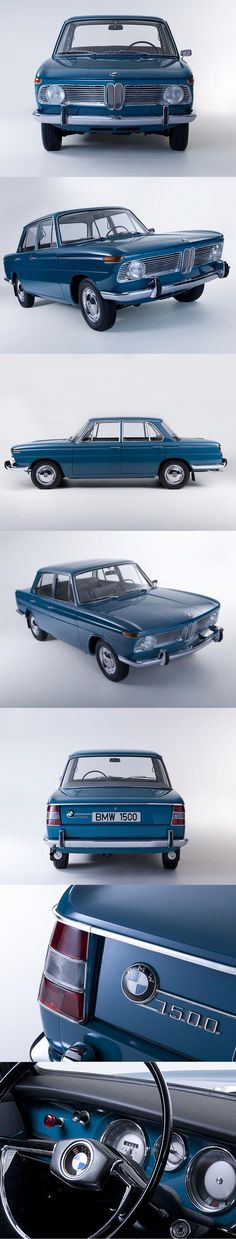 1962 BMW 1500 / New Class / blue / Germany / 16-106
