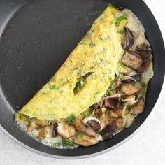 Cheese and omelette mushrooms - zuckerfrei - Mushroom Recipes Mushroom Recipes, Veggie Recipes, Cooking Recipes, Healthy Recipes, Healthy Eating Tips, Healthy Nutrition, Clean Eating, Mushroom Omelette, Food Trucks