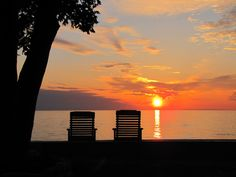 Front row seats where we see the beauty from the shores of Lake Ontario , Oswego NY